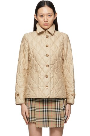 Burberry Beige Quilted Diamond Thermoregulated Jacket
