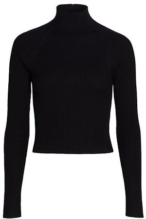 Alice + Olivia Women Jumpers - Irena Rib-Knit Cropped Sweater