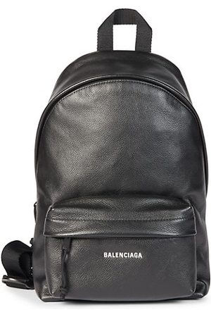 Balenciaga Men Rucksacks - Grained Leather Sling Backpack