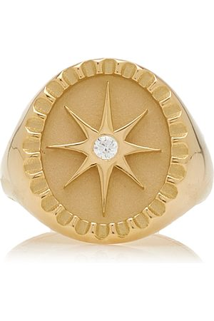Pamela Zamore Women's Star 18K Yellow Diamond Signet Ring
