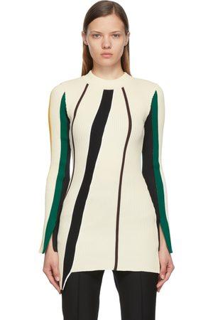 AMBUSH Off-White Ribbed Striped Dress