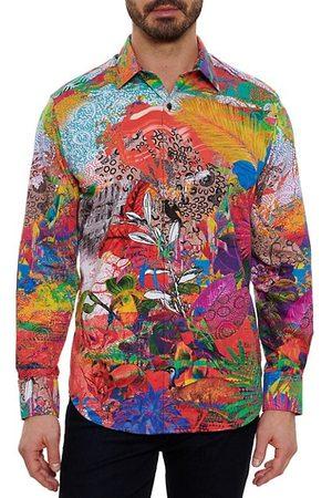 Robert Graham Men Sports T-shirts - Garden Print Sport Shirt