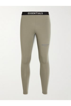 FEAR OF GOD Men Stretch Pants - Logo-Print Stretch-Jersey Sweatpants