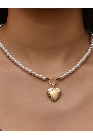 YOINS Pearl Heart Necklace