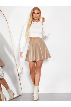 YOINS Faux Leather Sexy Mini Skirt