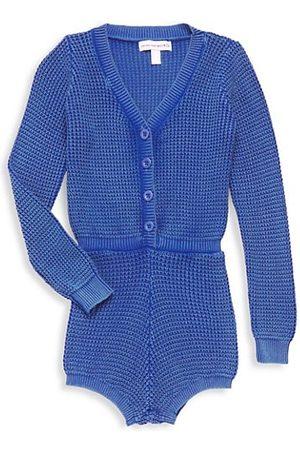Central Park West Girls Bodysuits - Girl's Blaire Acid Wash Knit Romper