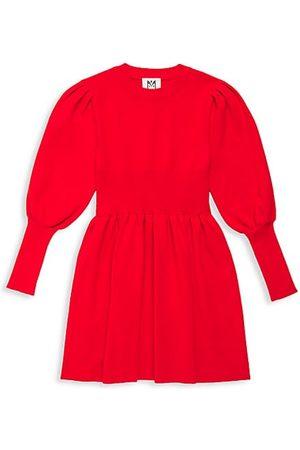 Milly Girl's Leg-Of-Mutton Sweater Dress