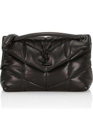 Saint Laurent Women Handbags - Small Leather Puffer Shoulder Bag