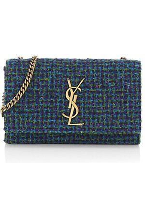 Saint Laurent Women Handbags - Small Kate Chain Bouclé Tweed Shoulder Bag