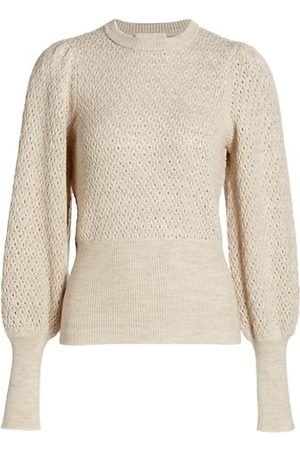 by Ti Mo Women Jumpers - Pointelle-Knit Wool-Blend Sweater