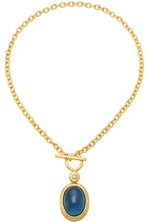 Kenneth Jay Lane Goldplated Faux Sapphire Pendant Necklace