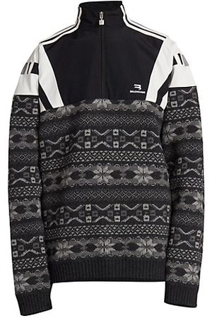 Balenciaga Men Jumpers - Pieced Tracksuit Sweater