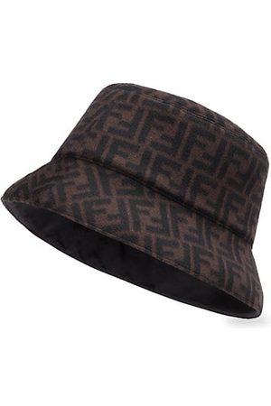 Fendi Men Hats - FF Wool-&-Silk Bucket Hat