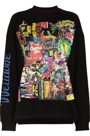 We11 Done Horror collage print sweatshirt