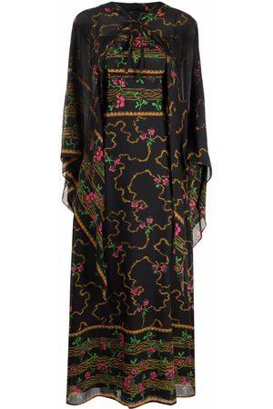 A.N.G.E.L.O. Vintage Cult 1970s floral-print dress and cape set