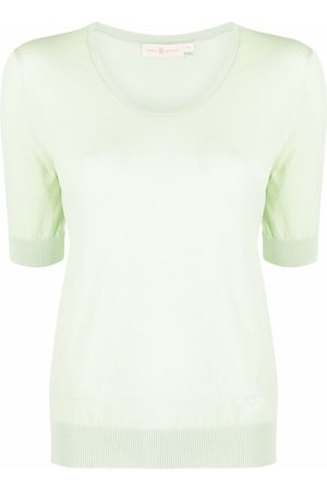 Tory Burch Embroidered-logo shortsleeved top