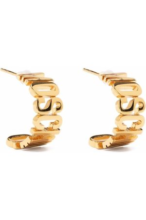 Moschino Logo-lettering small hoop earring