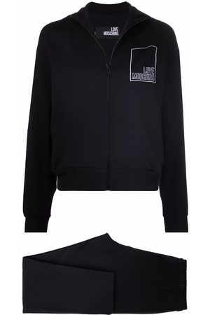 Love Moschino Embroidered-logo cotton tracksuit