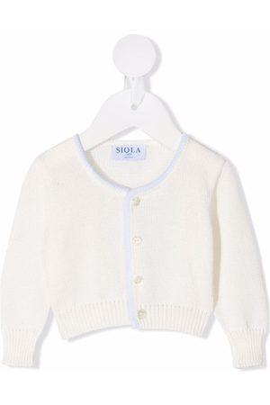 SIOLA Baby Cardigans - Orlando contrast-trim cardigan