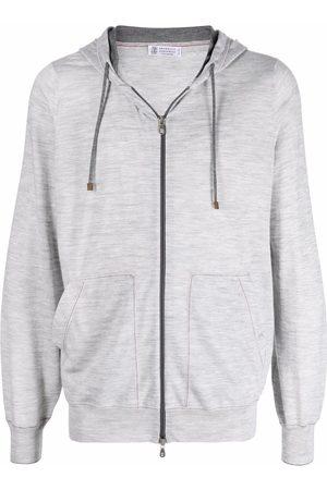 Brunello Cucinelli Zip-up wool hoodie
