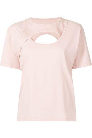 DION LEE Women Short Sleeve - Holster cotton T-shirt