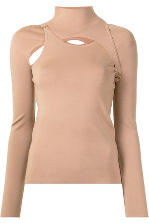 DION LEE E-Hook holster hybrid knitted top