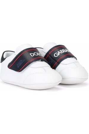 Dolce & Gabbana Baby Sneakers - Logo-print touch-strap sneakers