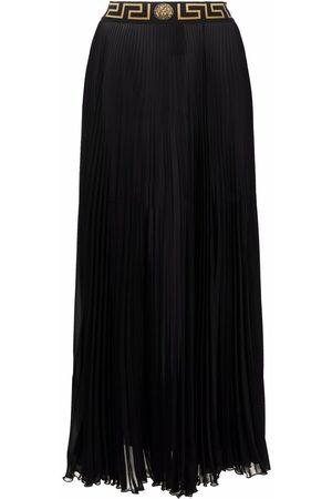 VERSACE Greca-trim maxi skirt
