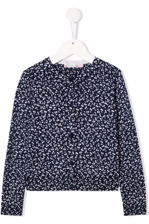 BONPOINT Cherry-print wool jumper