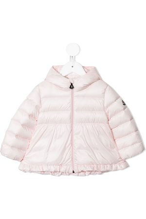 Moncler Baby Jackets - Ruffle-trimmed puffer jacket