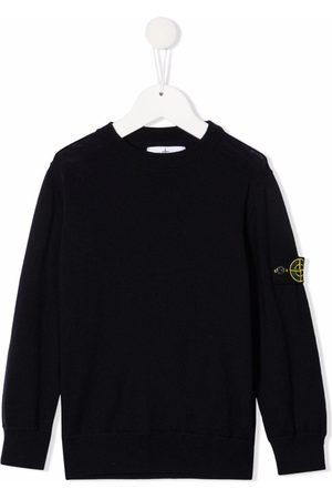 Stone Island Logo-patch wool jumper