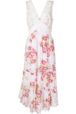 LOVESHACKFANCY Floral-print cotton midi-dress