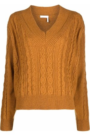 See by Chloé Women Jumpers - Cable-knit V-neck jumper