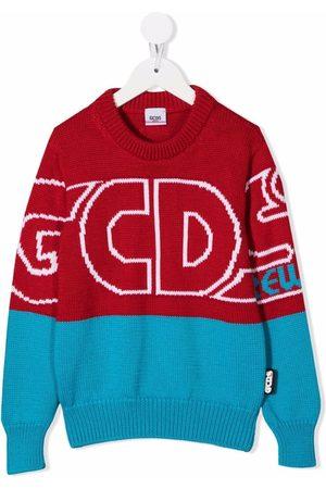 GCDS Two-tone logo-print jumper