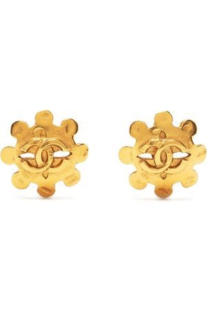 CHANEL 1994 CC floral earrings