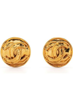 CHANEL 1994 CC button clip-on earrings