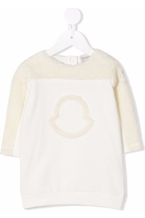 Moncler Baby Casual Dresses - Logo-detail long-sleeved jumper dress
