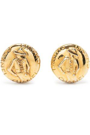 CHANEL Women Earrings - 1990s Mademoiselle button earrings