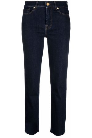 7 for all Mankind High-rise cropped-leg jeans