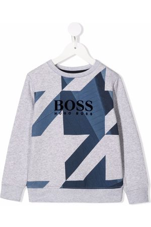 HUGO BOSS Geometric-print fleece sweatshirt