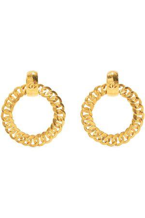 CHANEL 1996 chain hoop earrings