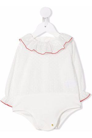 LA STUPENDERIA Ruffle-collar long-sleeved blouse