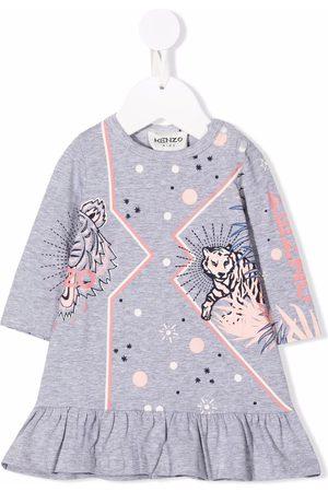Kenzo Logo-print long-sleeved dress