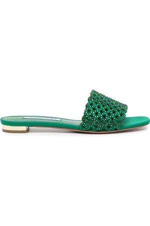 Aquazzura Women Sandals - Crystal Candy flat sandals