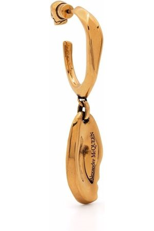 Alexander McQueen Women Earrings - Molten drop hoop single earring