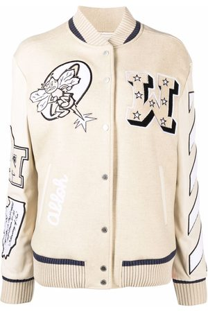 OFF-WHITE Patch-detail bomber jacket