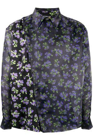 DUOltd Floral print wrap shirt