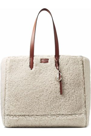 Jimmy Choo Laylin shearling tote bag