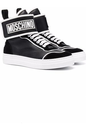 Moschino Baby Sneakers - Logo-patch high-top sneakers