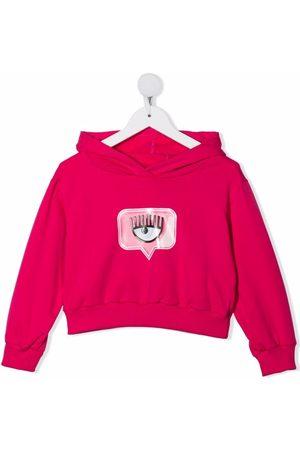 Chiara Ferragni Logo-patch pullover hoodie